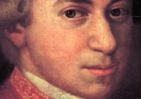 Facial Portrait Painting of Mozart as a young man.