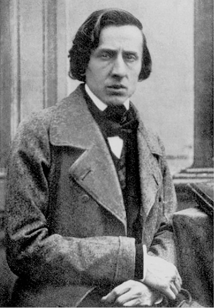 Black and white photograph of Frederic Chopin