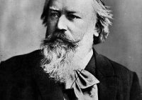 Black and White photograph of Johannes Brahms in his later years