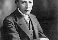 A Black and White Photograph of Sergei Rachmaninov aged 22