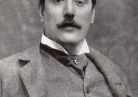 Black and White Photo Graph of Giacomo Puccini