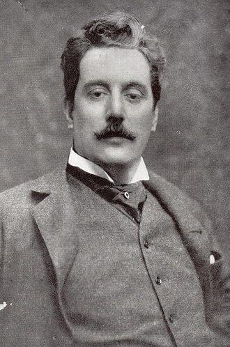 Black and White Photo Graph of Giacomo Puccini