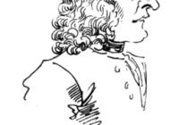 Black and White Caricature of Antonio Vivaldi