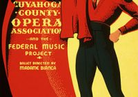 Poster advertising the opera Carmen featuring a bullfighter
