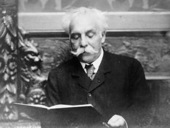 Black and White photograph of Gabriel Faure in his later years