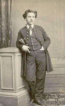 Black and White photograph of Faure when he was a student