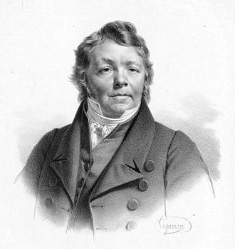 Black and White portrait of Johann Hummel dressed elegantly of Joseph