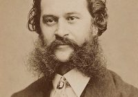 Black & White photograph of Johann Strauss II - head and shoulders
