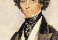 Colour portrait of Felix Mendelssohn as a young man