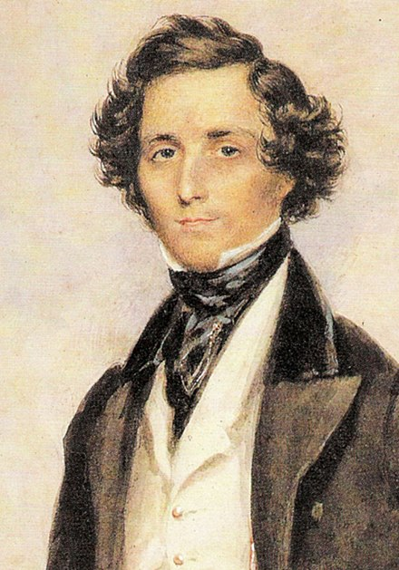 Colour portrait of Felix Mendelssohn as a young man