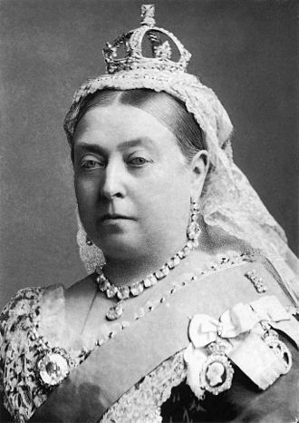 Black and White photograph of Queen Victoria (head and shoulders)