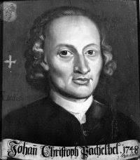 Black and white image of Johann Pachelbel