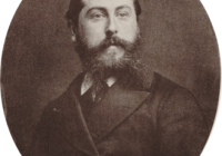 Black and White photograph of Leo Delibes head and shoulders smartly dressed