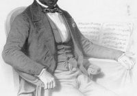 Lithograph of Adophe Charles Adam seated in a chair