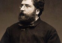 Black and white portrait of Georges Bizet in his mid thirties