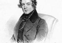 Lithograph of Robert Schumann age 29