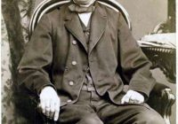 Black and white photograph of Mortiz Brosig in his later years