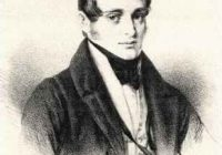 Lithograph showing the head and shoulders of Norbert Burgmuller smartly dressed