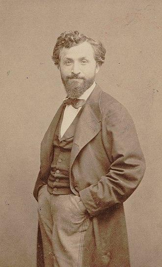Photograph in sepia of Gaetano Braga as a young man