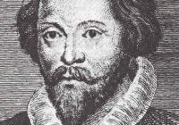 Head and Shoulders black and white portrait of English composer William Byrd