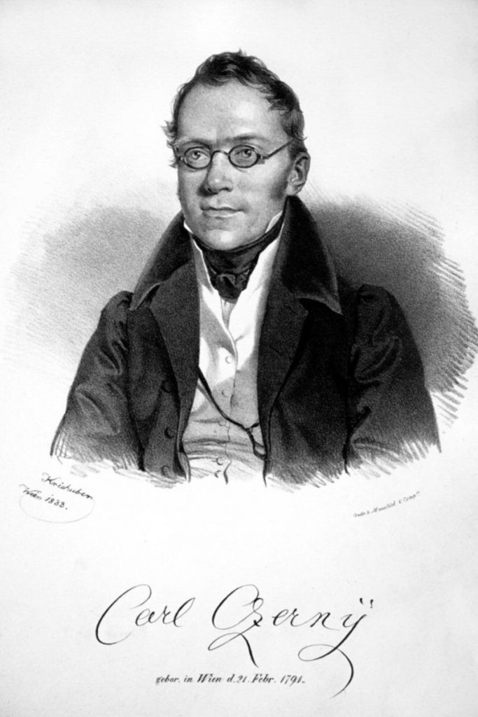 Portrait of Carl Czerny in his forties smartly dressed