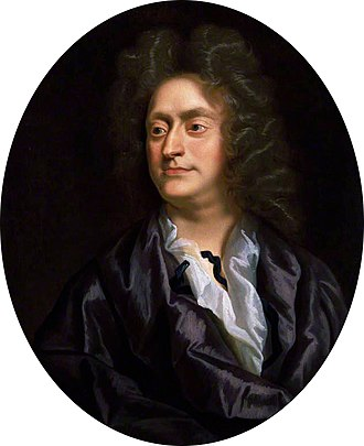 Painting of Henry Purcell in his thirties of his head and shoulders