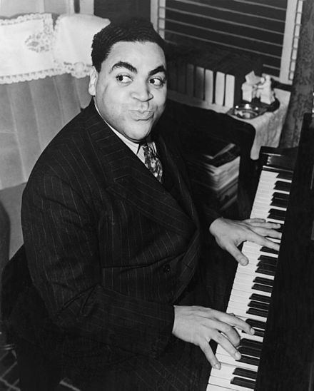 Black and White Photograph of Thomas Fats Waller playing the piano aged thirty four