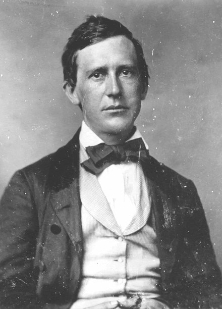 Black and White Photograph of Stephen Foster smartly dressed in his twenties/thirties