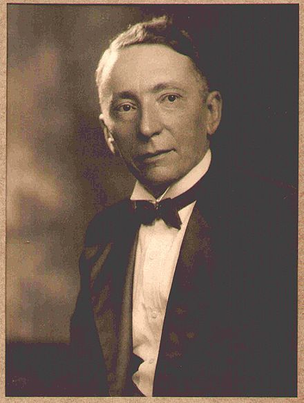 Black & White Portrait Photograph of Charles Leslie Johnson wearing a bow tie