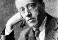 Black & White Photograph of Gustav Holst's head and shoulders
