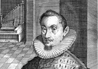 Black and White drawing of Hans Leo Hassler