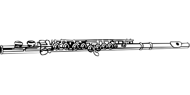 Black & White drawing of a flute