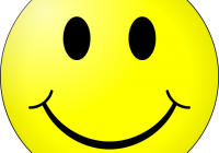 Yellow circle with smiley face