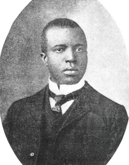 Black & White portrait of Scott Joplin in his thirties