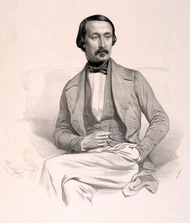Black and White Portrait of Felix Le Couppey