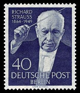 1964 German Stamp with Richard Strauss on it