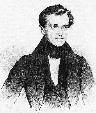 Black & White drawing of Johann_Strauss_I_in 1835