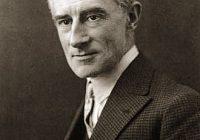 Black and White Portrait Photo of Joseph Maurice Ravel in 1925