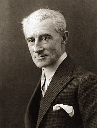 Black and White Portrait Photo of Maurice Ravel in 1925