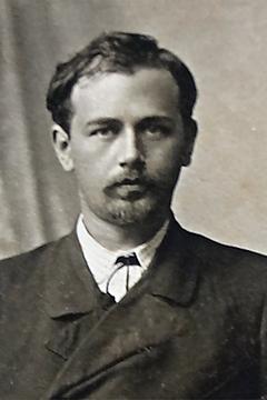 Black and White photograph of Mykola Leontovych