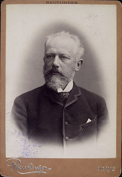Black and White photograph of Tchaikovsky by Reutlinger