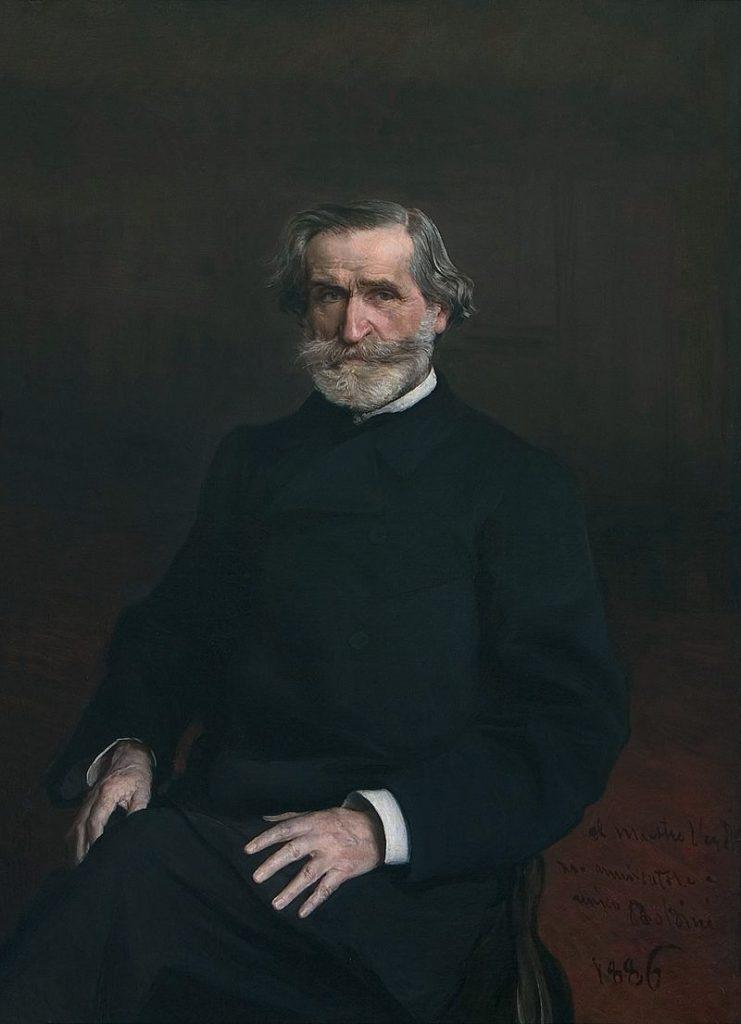 Coloured Portrait of Giovanni Verdi by Giovanni Boldini 1886