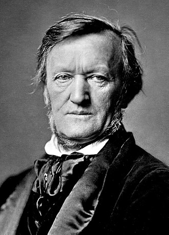 Black and White Head & Shoulders Photograph of Richard Wagner in 1871