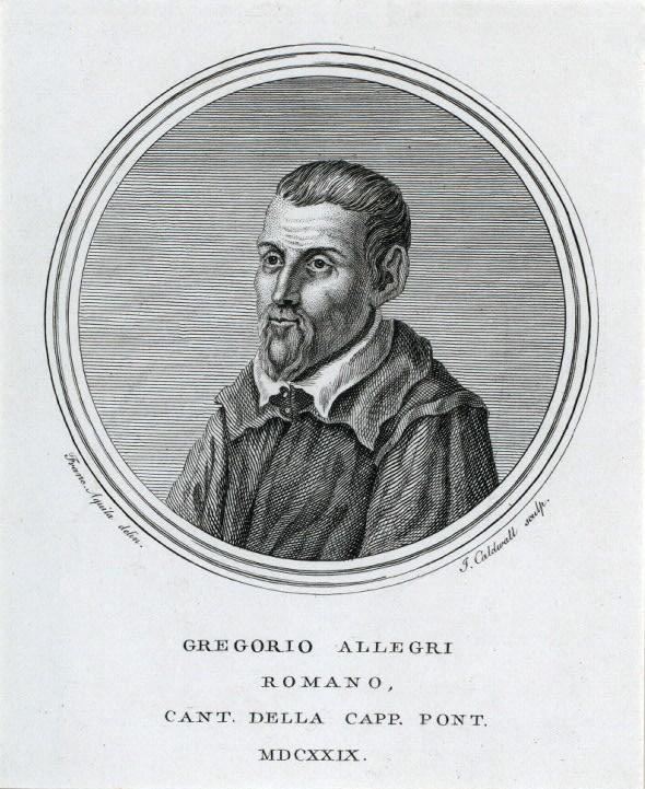 Black & White Drawing of Gregorio Allegri