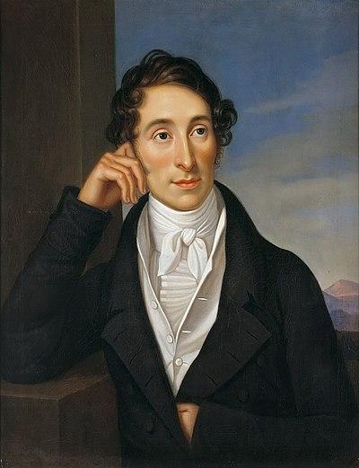 Colour portrait of Carl Maria von Weber by Caroline Bardua in 1821