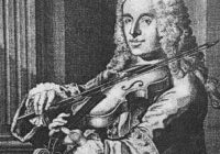 Black & White image of Francesco Maria Veracini playing the violin