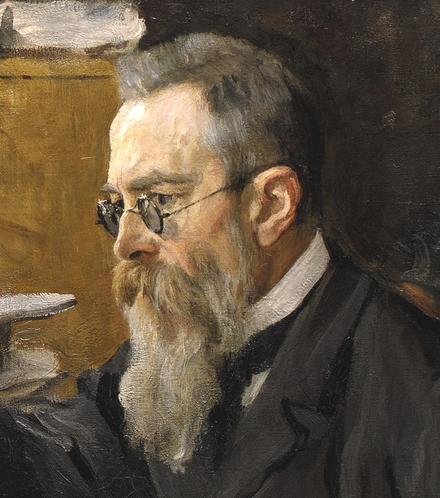 Painting of Nikolai Rimsky-Korsakov in 1898 by Valentin Serov