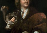 Portrait oil painting of Gottfried Reiche in 1727 by Elias Gottlob Haussmann