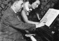 Black & White photograph of Erwin Schulhoff with dancer Milca Mayerova in 1931