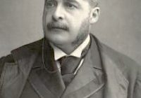 Black and White Photograph of Arthur Sullivan in 1888